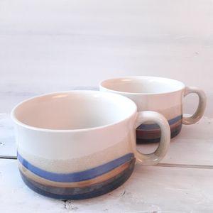 Two Ceramic Japanware Capuccino Mugs